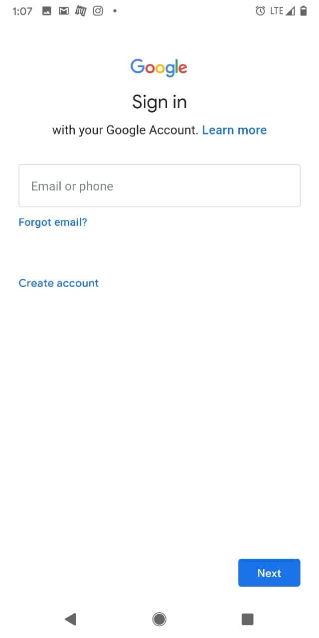 Add second gmail account
