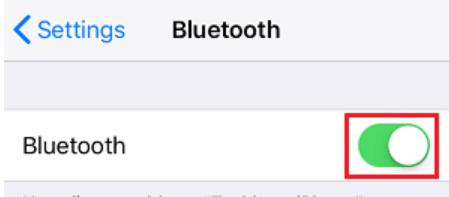 Bluetooth Enable Option
