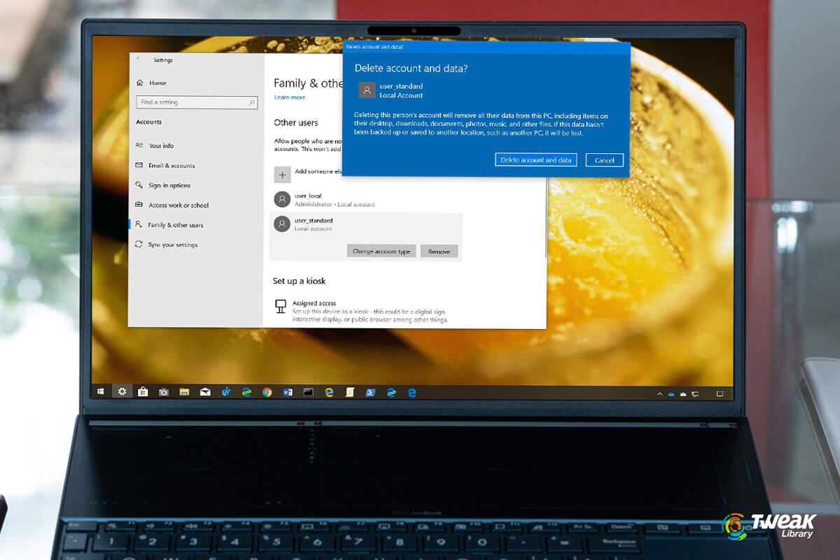 Create or Delete User Account Windows 10