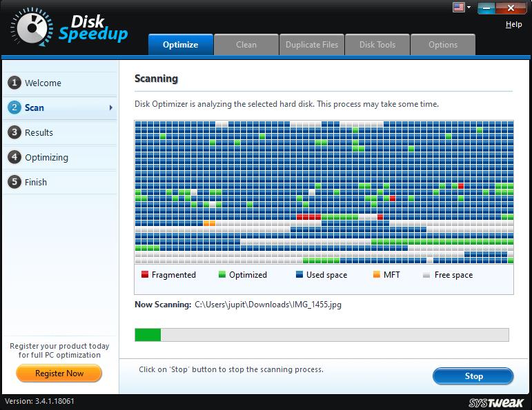 Disk Speedup scanning process