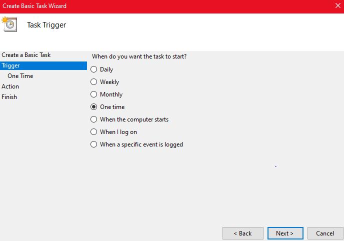 How to schedule a shutdown Windows 10