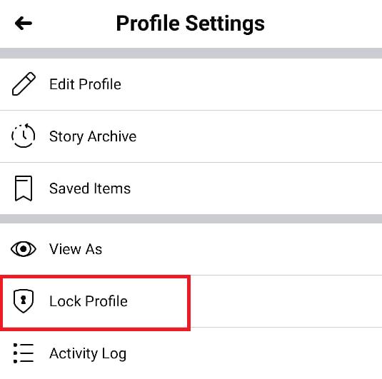 Lock Profile on Facebook