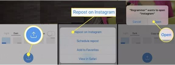 Regrammer App will Ask You to Switch Instagram App