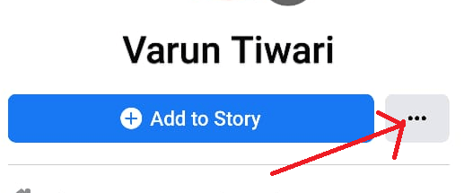 Tap on Add to Story Button on Facebook Profile