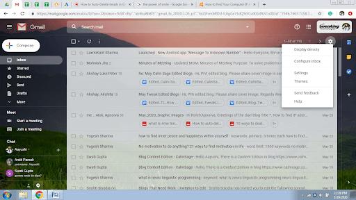 auto delete email gmail