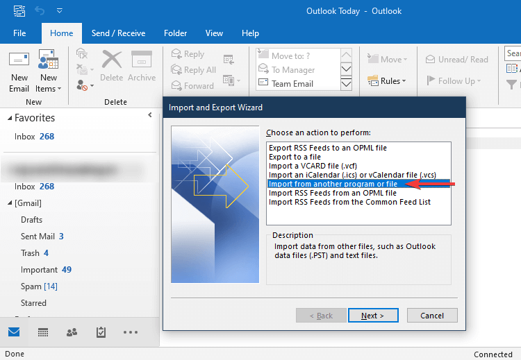 import from other file or program