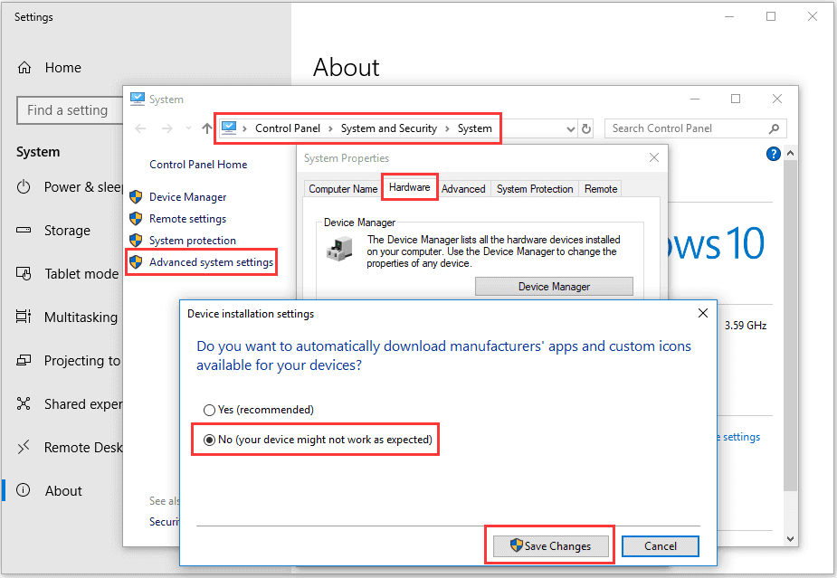 windows 10 disable driver update