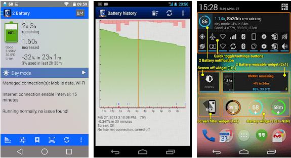 2 بطارية -  أفضل تطبيقات توفير البطارية للاندرويد