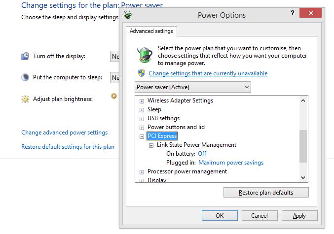 Adjust Power Plan Settings