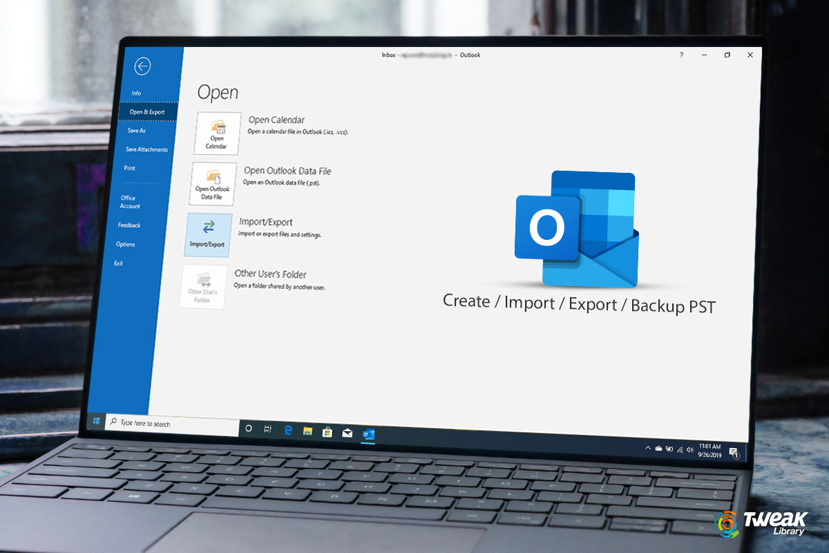 How to Create/Import/Export a .PST File in Outlook 2019