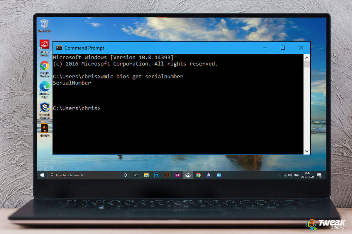 How To Find Computer Serial Number On Windows 10