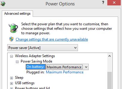 Wireless Adapter Settings