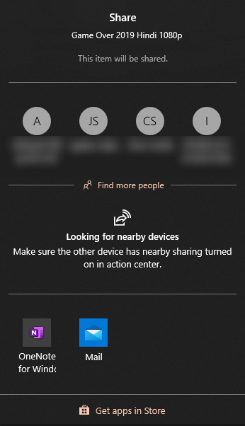 nearby sharing devices