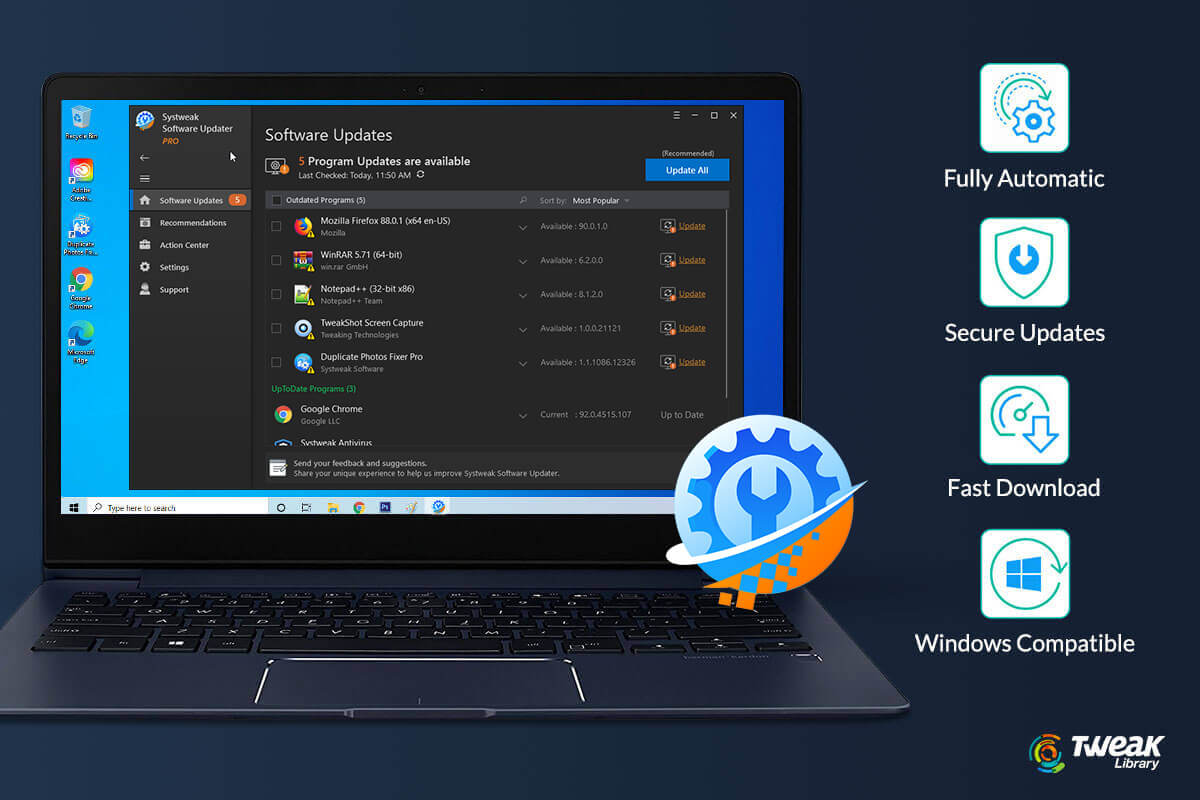 Keep Your Windows PC Software Updated With Systweak Software Updater