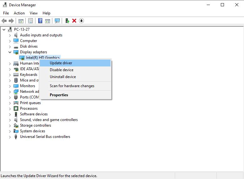 تحديث تعريف كارت الشاشة | حل مشاكل كارت الشاشة بعد تحديث ويندوز 10