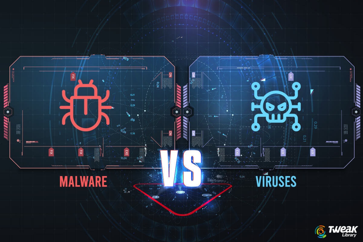 Difference Between Malware and Viruses & Types of Viruses