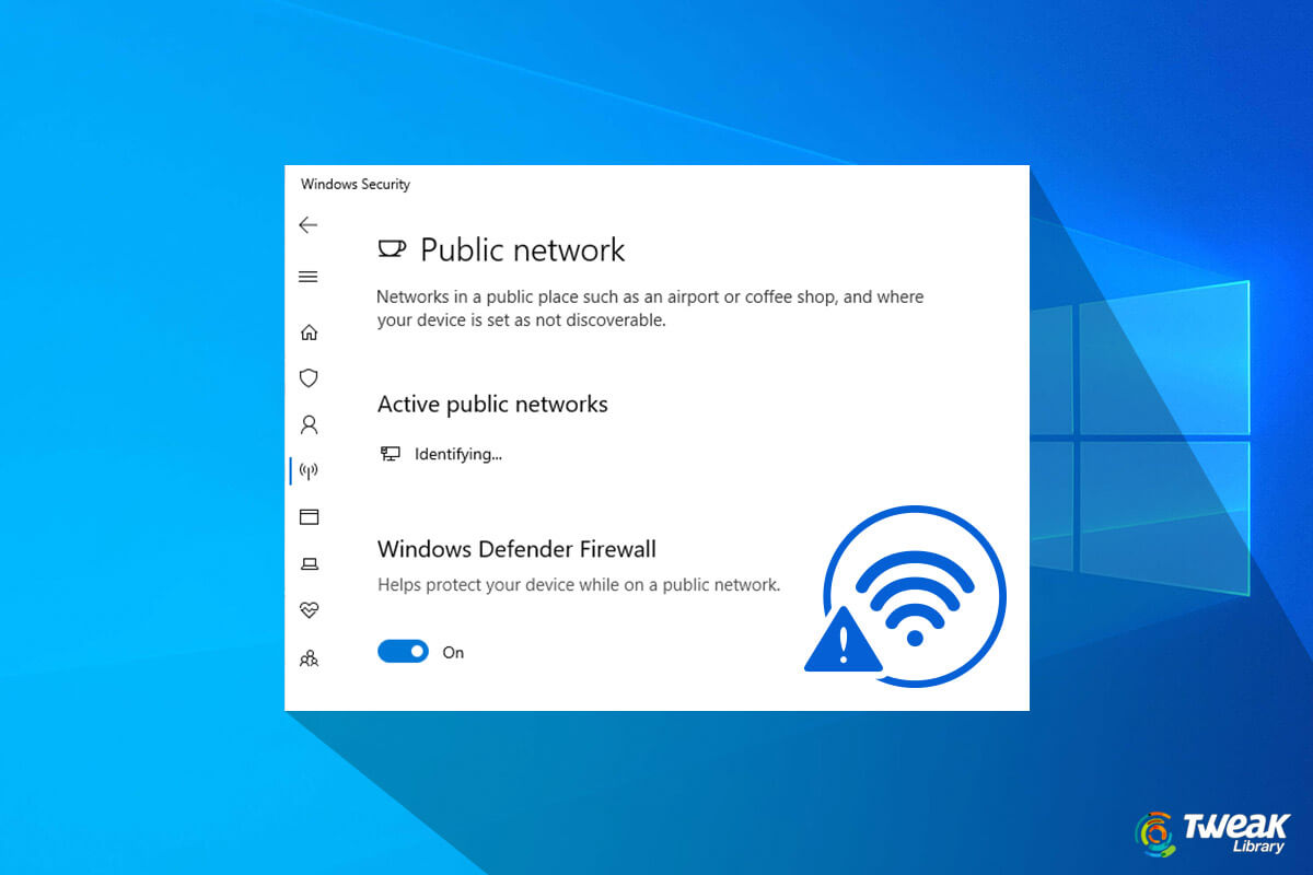 How to Fix The Error Unidentified Network In Windows 10