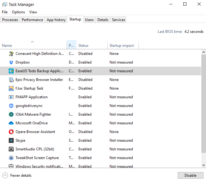 Startup Items - Windows 10 Annoying things