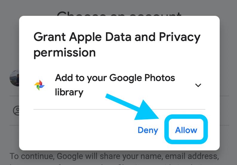 كيفية نقل الصور إلى google على icloud 5