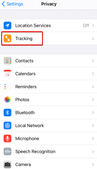 App tracking