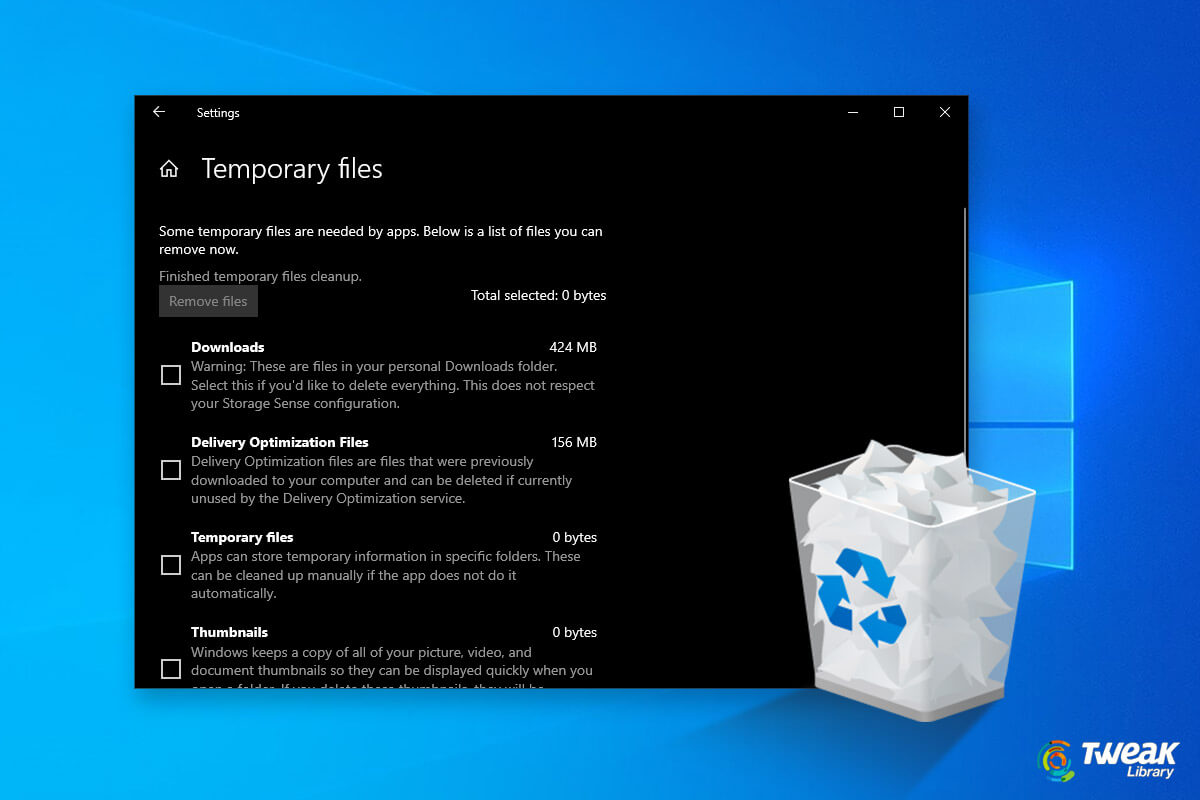 Free Up Disk Space By Deleting Temp Files & Folder – Windows 10