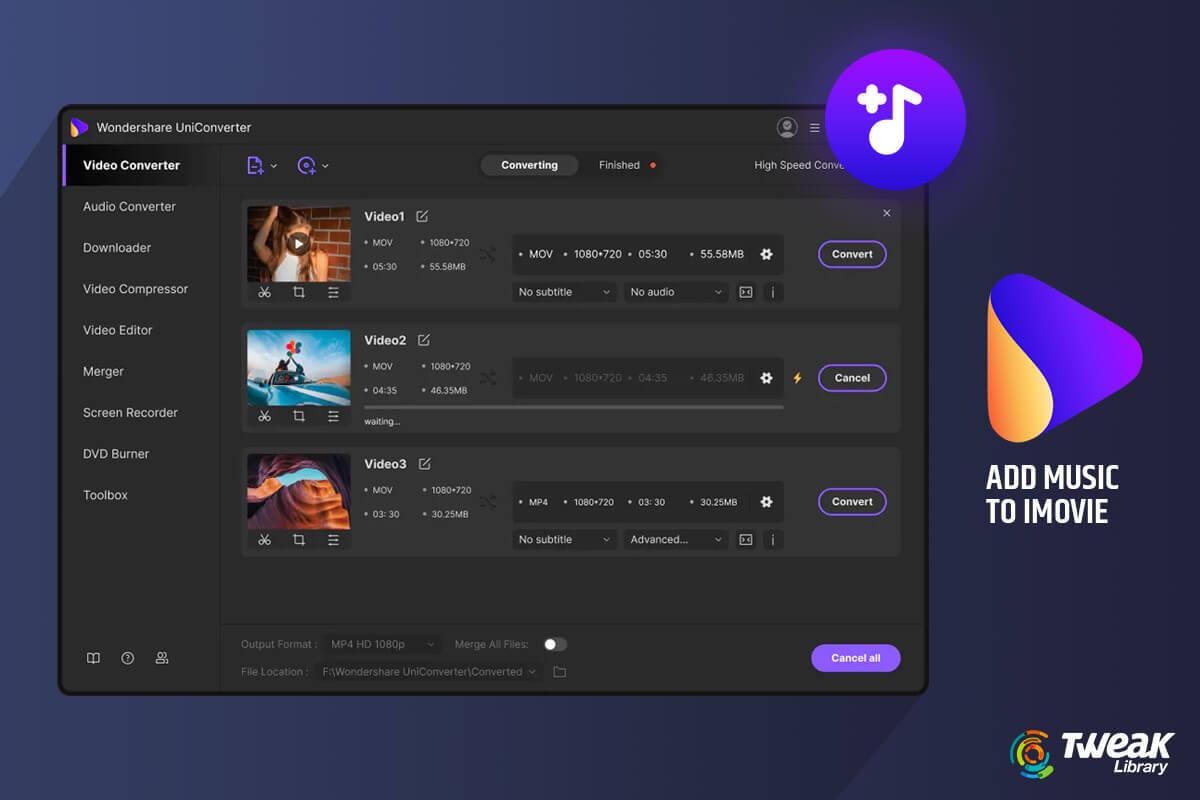 How To Add Music To iMovie – Wondershare Filmora