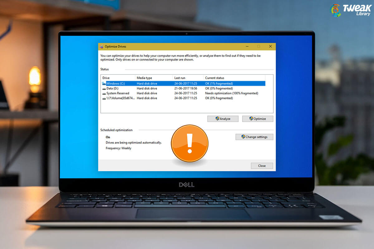 Possible Ways To Fix – Defrag Not Working in Windows 10